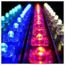 kolorowe ledowe lampy